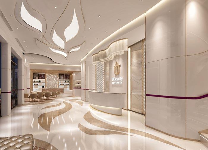 880平方中型整形医院前台装修设计案例效果图图片