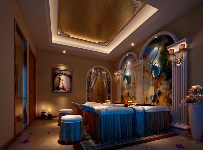 300平方小型spa會所vip房裝修設計案例效果圖
