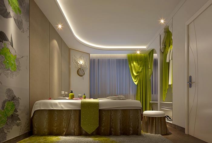 400平方中小型spa会所装修设计案例效果图